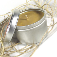 Soy Candle - Cinnanut Columbian Cafe scented Soy Candle Tin -- 6 ounce Tin