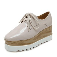 Wooden Platform Oxfords