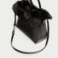3 IN 1 CITY BAG WITH FAUX FUR DETAILS