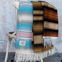 Striped Woven Saltillo Blankets