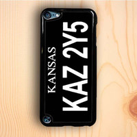 Dream colorful Supernatural Winchester Impala Kansas License Plate iPod Touch 5th Gen