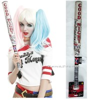"Licensed cool DC  Suicide Squad Harley Quinn Cosplay Replica 24"" Baseball Bat Good Night"