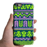 Lime Turquoise Aztec Tribal iPhone XR 6 Case iPhone XS Max plus Case iPhone 8 SE Case Retro Samsung Galaxy S8 S6  Note 3 Case 034lime