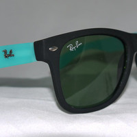 New Wayfarer Sunglasses Blue Turquoise Matte New In Box New With Tag from Eye fashion