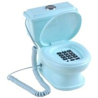 Daditong Creative Toilet Shaped Wired Home Office Table Landline Telephone