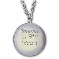Photo Locket with Custom Engraving  Silver by kathylorockskeepsake
