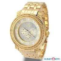 Mens Gold Plated Yellow CZ Iced Out Watch - ASAP Rocky Jewelry - Celebrity Jewelry