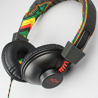 The House of Marley The Positive Vibration Headphone with Mic in Rasta : Karmaloop.com - Global Concrete Culture