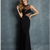 Night Moves by Allure: Black Jersey & Illusion Keyhole Prom Dress Prom 2015