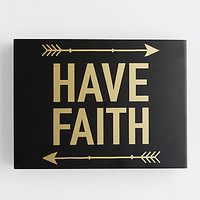 Have Faith Wooden Wall Hanging