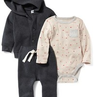 Old Navy Bodysuit, Hoodie & Pants Set
