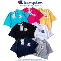 Champion classic big C print letter round neck half sleeve T-shirt