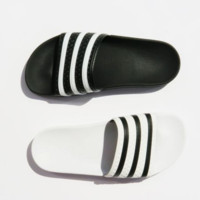 ADIDAS fashion stripe slippers converse slippers Black white