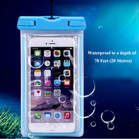 Clear Waterproof Pouch Dry Case Cover for Xiaomi Mi Note Pro MiNote Redmi Pro 3 Phone Camera Mobile Phone Luminous Swimming Bags