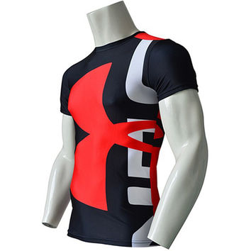 Compression Base Layer Short Sleeve Thermal under Top Tee Shirt New Sports T shirt Fitness Tights