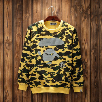 Bape Round neck 3m reflective camouflage printing plus cashmere [10597760967]