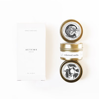 AUTUMN Gold Travel Candle Set