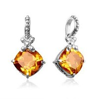 AP-6094-CT Sterling Silver Pendant With Citrine