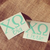 2 Sorority monogram car decal car sticker Big Little sorority stickers Big Little gift Custom monogrammed gift sorority car decal sticker