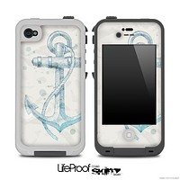 Hand Drawn Anchor on Grunge Paper Skin for the iPhone 5 or 4/4s LifeProof Case