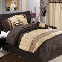 Sonata Coffee 7-Piece Comforter Set