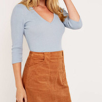 Urban Outfitters Basic Ribbed V-Neck Jumper - Urban Outfitters