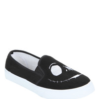 The Nightmare Before Christmas Jack Face Embroidered Slip-On Sneakers