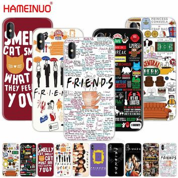 HAMEINUO friends tv cell phone Cover case for iphone X 8 7 6 4 4s 5 5s SE 5c 6s plus