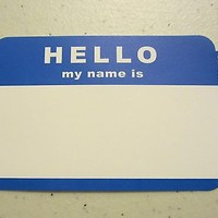"100 BLUE ""HELLO MY NAME IS"" NAME TAGS LABELS BADGES STICKERS PEEL STICK ADHESIVE"