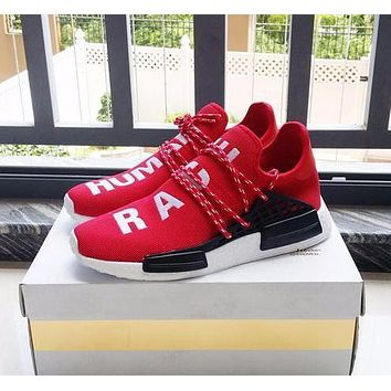 Pharrell Williams x Adidas Consortium NMD Human Race Red Sport Running Shoes Classic Casual Shoes Sneakers-1