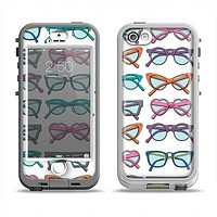The Various Colorful Vector Glasses Apple iPhone 5-5s LifeProof Nuud Case Skin Set