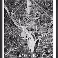 Washington D.C. Map with Coordinates