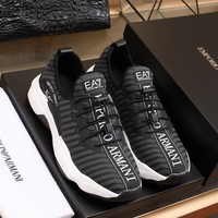 ARMANI  Fashion Men Casual Running Sport Shoes Sneakers Slipper Sandals