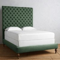 Linen Tufted Denouement Bed by Anthropologie