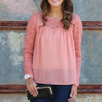 Sleeved in Lace Blouse {L. Salmon}