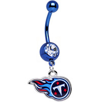 Officially Licensed NFL Tennessee Titans Dangle Belly Ring   Body Candy Body Jewelry