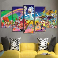 Rick and Morty Wall Art Panel Print Modern Home Decor Picture Framed UNframed