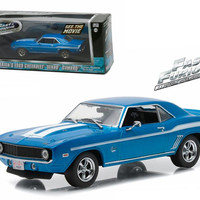 """Brian's 1969 Chevrolet Yenko Camaro """"The Fast and The Furious-2 Fast 2 Furious"""" Movie (2003) 1-43 Diecast Model Car by Greenlight"""