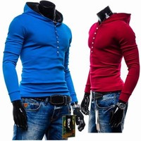 Pullover Hoodies Men Slim Hats Tops Jacket [6528648387]