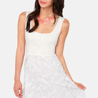 When in Romance Ivory Lace Dress