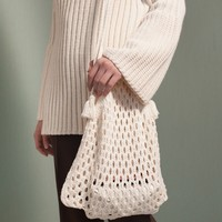 Knit Fisherman Net Shoulder Bag