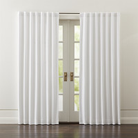 """Wallace White 52""""x84"""" Blackout Curtain Panel"""