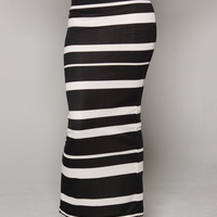Black & White Striped iAMMI Skirt (C)