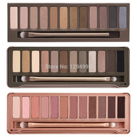 2015 NEW NAKE basics palette makeup kit set,nake 3 eyeshadowwith brush NK1 NK2 NK3 eye shadow 12 COLOR Nake1 2 3 makeup set