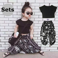 Mother Daughter Matching Clothes Big PP Fashion Short Sleeve Shirt+Pants Loose Family Look Matching Outfits Set Summer Style