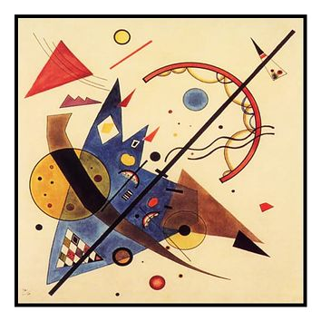 Arch and Point by Artist Wassily Kandinsky Counted Cross Stitch Pattern
