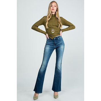 Special A Mid Rise Flare Jeans