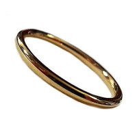 Eternity Ring Wedding Band Unisex Gold Ionic Plating 2mm High Polished r537g