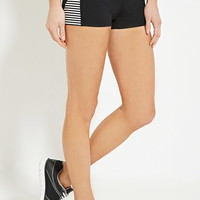 Active Striped-Side Shorts | Forever 21 - 2000168628