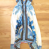 Summer Festival Scarf Print Handkerchief Dress